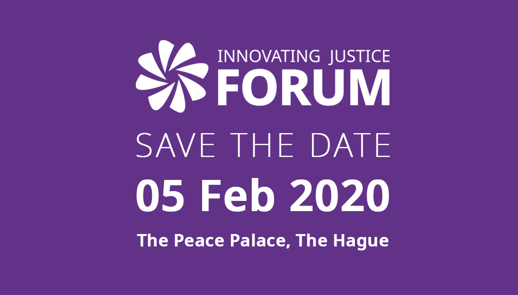 14a0ac4a0ce8 Save the date  the Innovating Justice Forum 2020